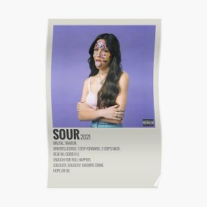 olivia rodrigo sour album Poster RB0906 product Offical Unus Annus Merch