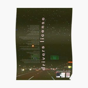 Drivers License Olivia Rodrigo Poster Poster RB0906 product Offical Unus Annus Merch