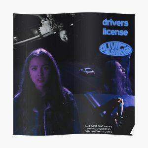 Olivia Rodrigo Drivers License (so blue edition) Poster RB0906 product Offical Unus Annus Merch