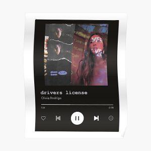 Drivers License Olivia Rodrigo Spotify Poster RB0906 product Offical Unus Annus Merch