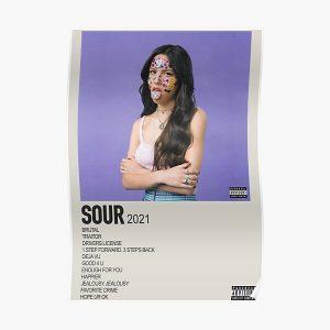 SOUR olivia rodrigo minimalistic album cover Poster RB0906 product Offical Unus Annus Merch