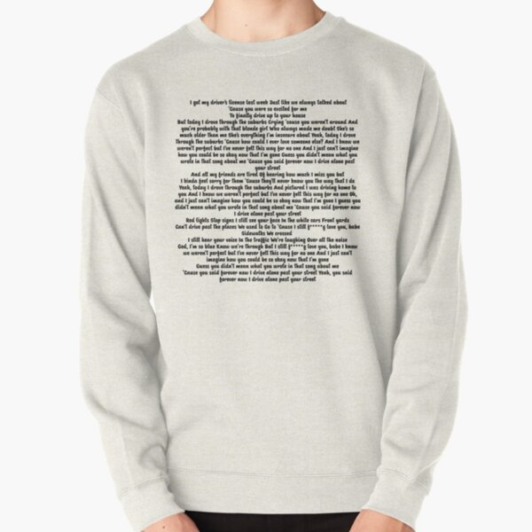 Driver License Olivia Rodrigo Lyrics Pullover Sweatshirt RB1106 product Offical Olivia Rodrigo Merch