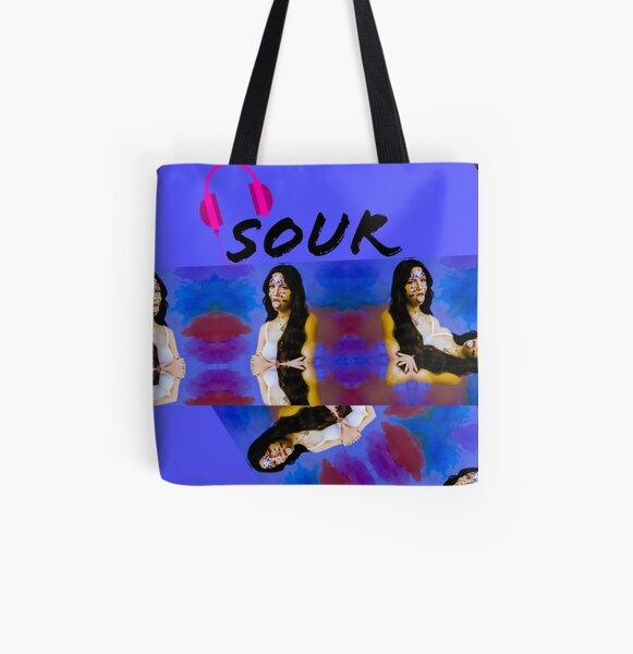 Olivia Rodrigo Sour music. Olivia Rodrigo music album Sour All Over Print Tote Bag RB0906 product Offical Unus Annus Merch