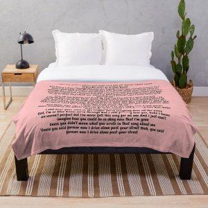 Driver License Olivia Rodrigo Lyrics Throw Blanket RB0906 product Offical Unus Annus Merch