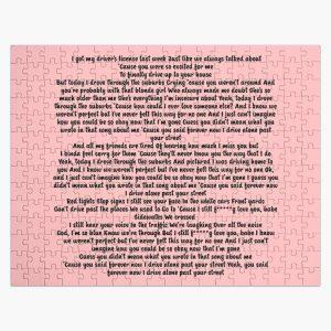 Driver License Olivia Rodrigo Lyrics Jigsaw Puzzle RB0906 product Offical Unus Annus Merch