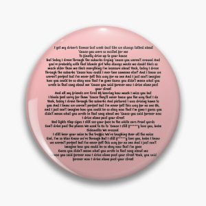 Driver License Olivia Rodrigo Lyrics Pin RB0906 product Offical Unus Annus Merch