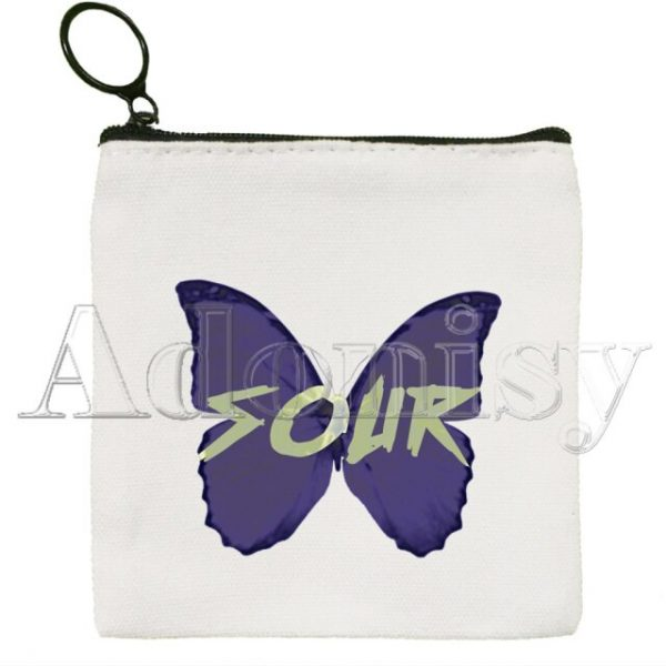 Olivia Rodrigo Canvas Coin Purse Coin Purse Collection Canvas Bag Small Wallet Zipper Key Bag - Olivia Rodrigo Merch