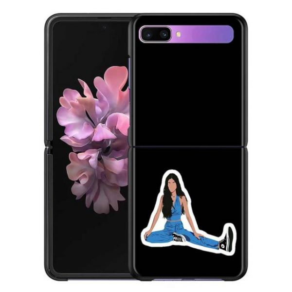 Olivia Rodrigo Phone Case for Samsung Galaxy Z Flip Cover For ZFlip 5G Cover Black - Olivia Rodrigo Merch