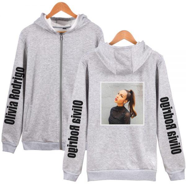 Y2K Kawaii Olivia Rodrigo Hoodies Zipper Hot Fashion Hoodie Sweatshirt 2021 New Casual Cotton Harajuku Streetwear - Olivia Rodrigo Merch